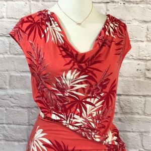 Tommy Bahama Dresses - Tommy Bahama coral knit dress size medium